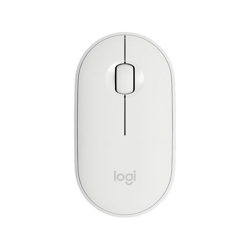 Mouse Logitech Pebble Inalámbrico M350 1000dpi 3 Botones 1 Bateria AA Off-White