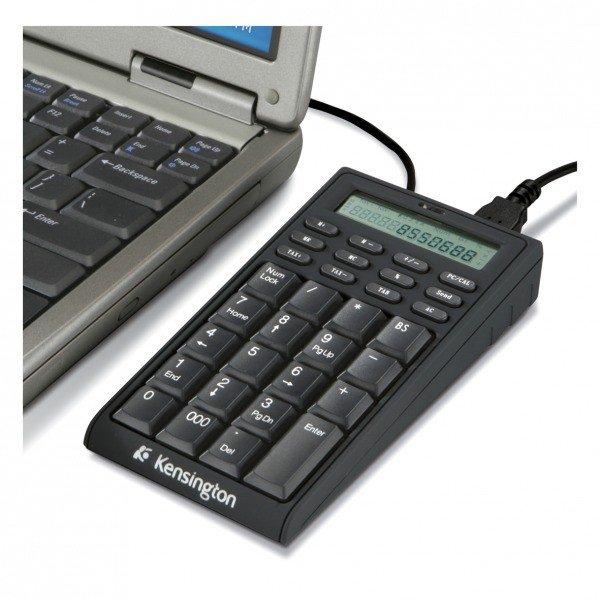 Teclado Numérico Kensington USB con Calculadora + 2 USB