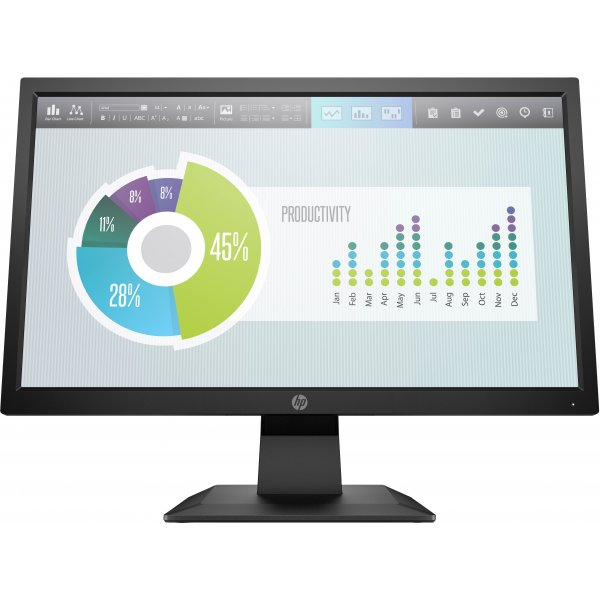 "Monitor HP P204v 19,5"" HD 1600x900 60Hz HDMI VGA"
