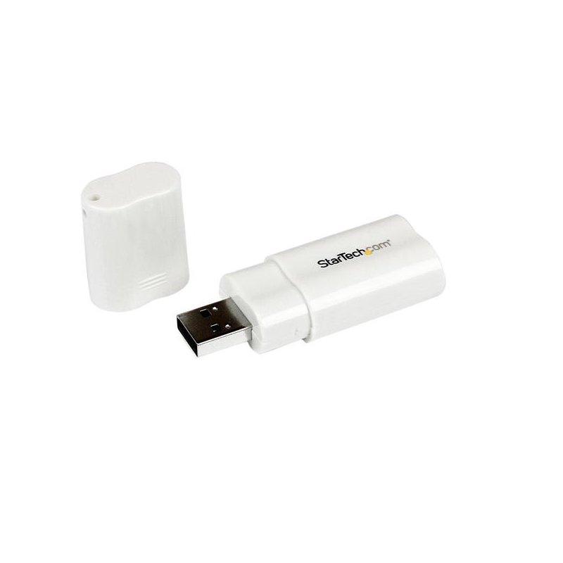 Adaptador Startech Estéreo USB Blanco