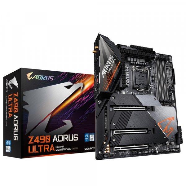 Placa Madre Aorus Z490 Ultra LGA1200 Triple M.2 SATA 6Gb/s WIFI 6 2.5 GbE LAN ATX 10ma Gen