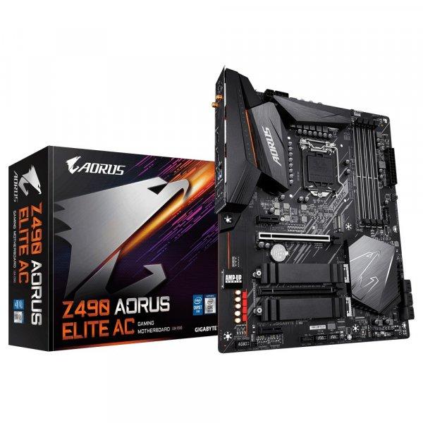 Placa Madre Aorus Z490 Elite AC LGA1200 Dual M.2 SATA 6Gb/s USB 3.2 Gen 2 2.5 GbE LAN ATX 10ma Gen