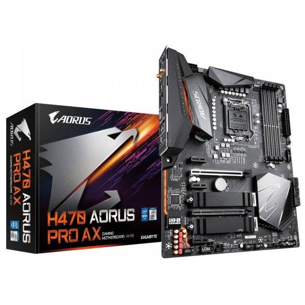 Placa Madre Aorus H470 Pro AX LGA1200 Intel H470 SATA 6Gb/s ATX