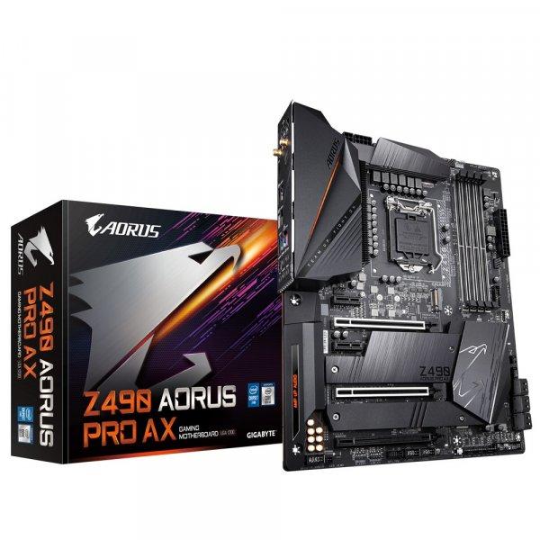 Placa Madre Z490 Aorus Pro AX LG1200, Dual M.2, SATA 6Gb/s USB 3.2 Gen 2 WIFI 6 2.5 GbE LAN, ATX