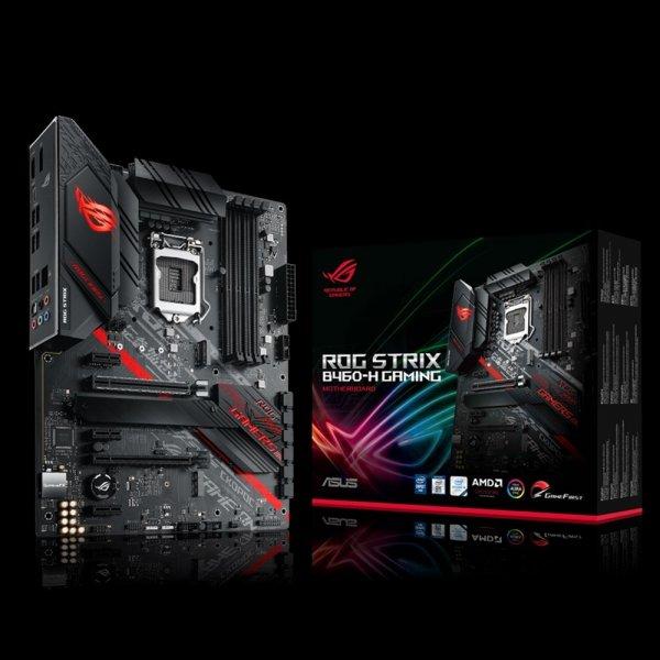 Placa Madre Asus ROG STRIX B460-H GAMING LGA1200 DDR4 2933Mhz x4 M.2 x2 RGB ATX