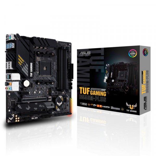 Placa Madre ASUS TUF GAMING B550M-PLUS WI-FI AM4 DDR4 4400MHz M.2 PCIe 4.0, MicroATX