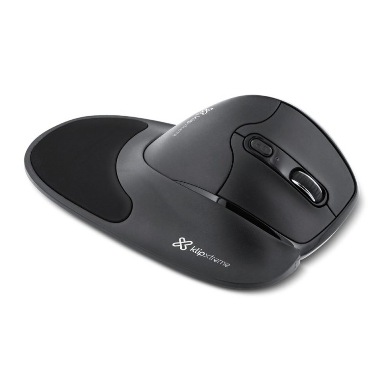 Mouse KlipX Flexor Inalambrico Ultra-ergonómico 6 Botones 2.4GHz Negro