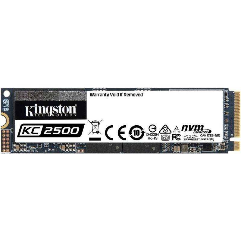 Unidad de Estado Solido Kingston KC2500 de 500GB NVMe M2 2280 TLC 3D 3.500/2.500MB/s