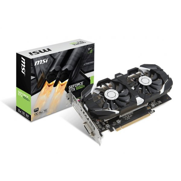 Tarjeta de Video MSI Nvidia GeForce GTX 1050 Ti 4GB OC