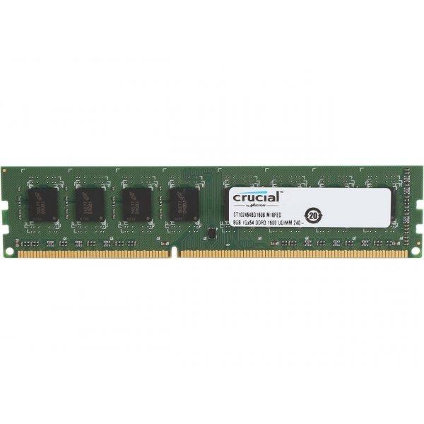 Memoria RAM Crucial 8GB DDR3L 1600 UDIMM 1 35V 1 5V