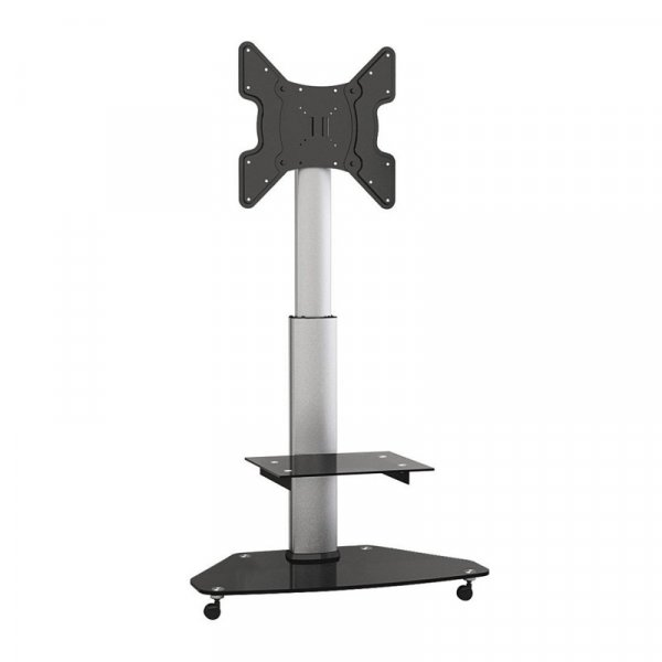 "Soporte para Tv LCD Led Tipo Pedestal 27-47"" VMAX 400x400 1 Bandeja 40 Kg"
