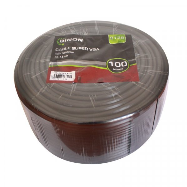 Rollo de Cable Super VGA 100M