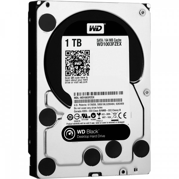Disco Duro Western Digital 1TB Black 64MB 3.5IN SATA 6GB/s 7200RPM