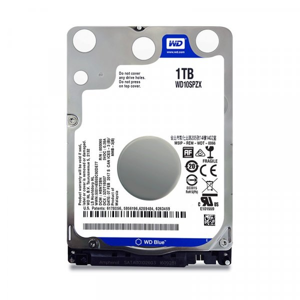 Disco Duro Western Digital 1TB Blue 16MB 7MM