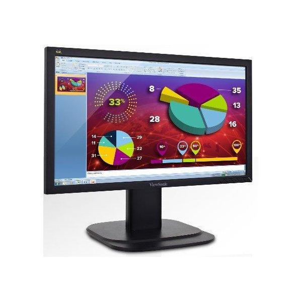 "Monitor Viewsonic VG2039M 20"" 1600x900 D.PORT/DVI/VGA/R.EN ALTURA/24X7"