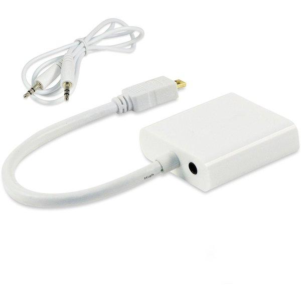 Conversor de Video Micro HDMI a VGA + Audio 3,5MM Incluye Cable Audio