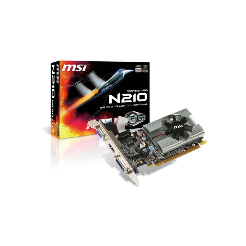 Tarjeta de Video MSI N210-MD1G/D3