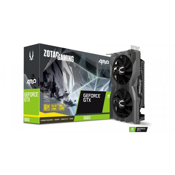Tarjeta de Video Zotac Gaming GeForce GTX 1660 AMP 6GB GDDR5