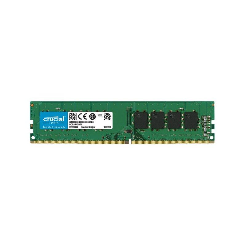 Memoria Ram Crucial DDR4 8GB 2400MHz (PC4-19200) CL17 SR x, NON-ECC, Dimm